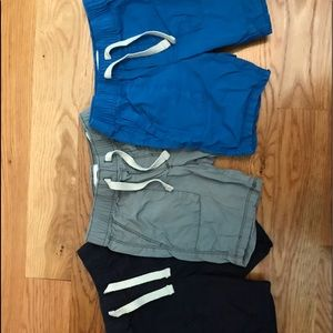 Old navy shorts - lot of 3, navy, gray, and blue